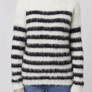 TOPSHOP BOUTIQUE ALPACA Striped Knit Sweater